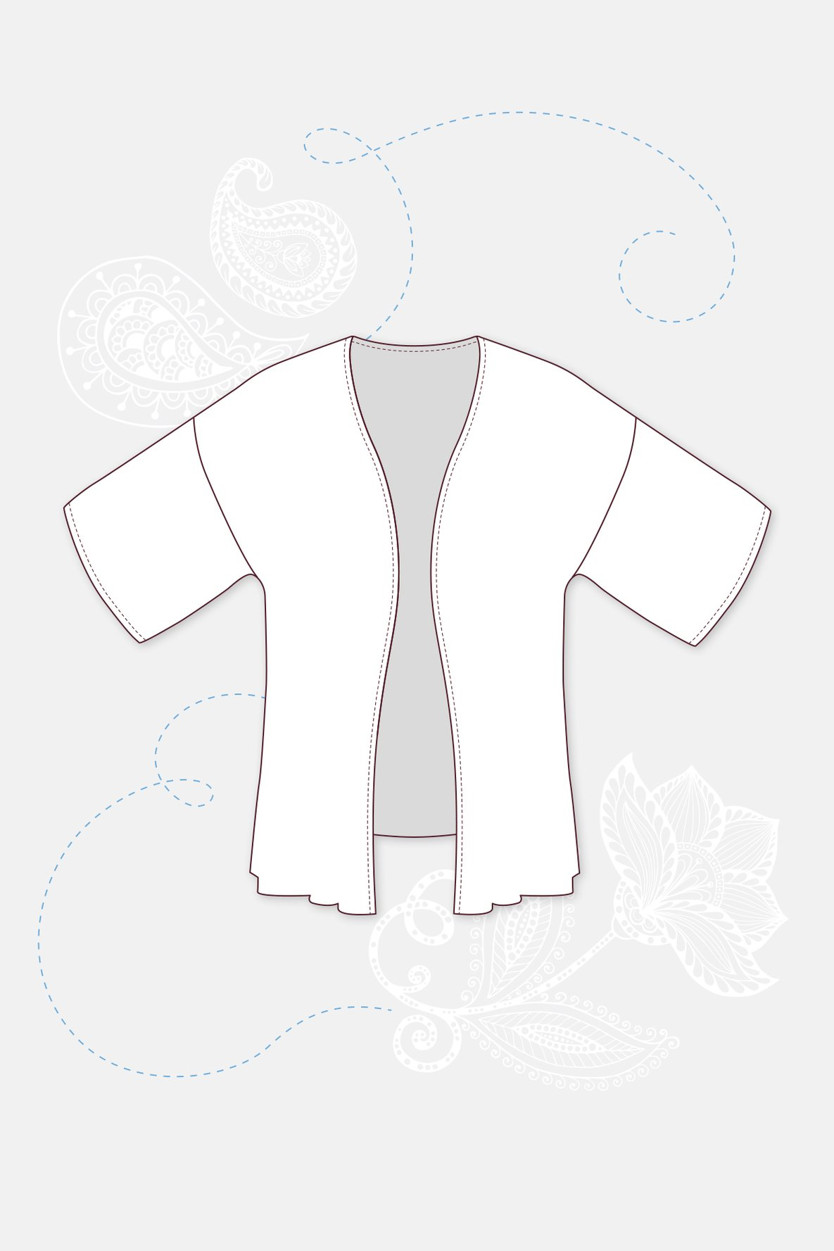 Kimono nähen mit Nähanleitung und Schnittmuster von Pattydoo