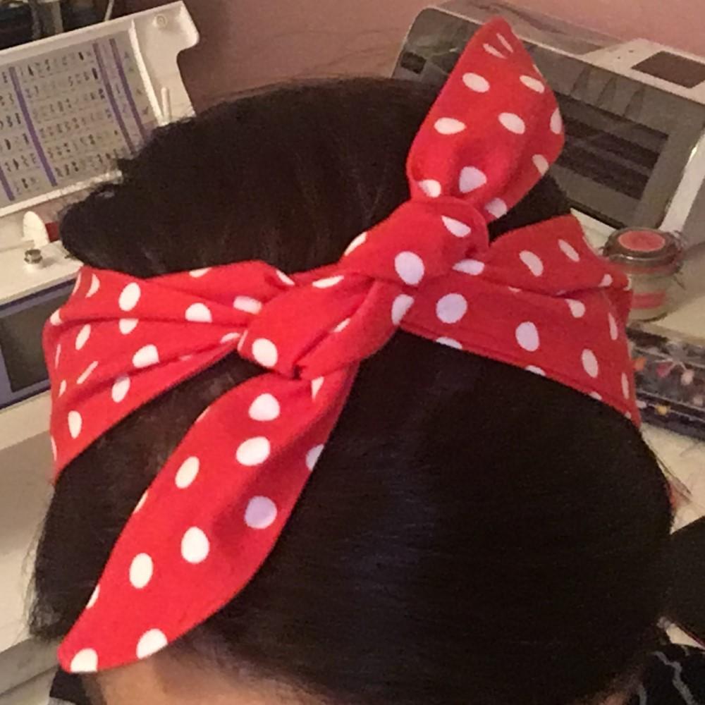 Detailbild für das kostenlose Schnittmuster Haarband 50s Style von Selbernähen.net
