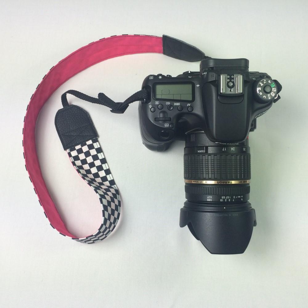 Kameragurt genäht nach der Nähanleitung von Selbernähen.net.