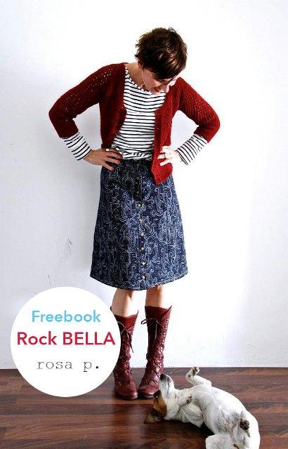 Gratis Schnittmuster Rock BELLA von Lillestoff - Ein Basic Teil mit vielen Optionen!