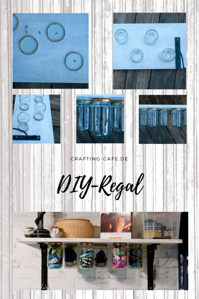 """Titelbild für Beitrag """"DIY Tutorial Nähzimmer - DIY Schraubregal von The Crafting Café"""
