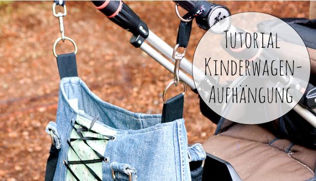 Nähanleitung Kinderwagenaufhangmöglichkeit für eine Tasche