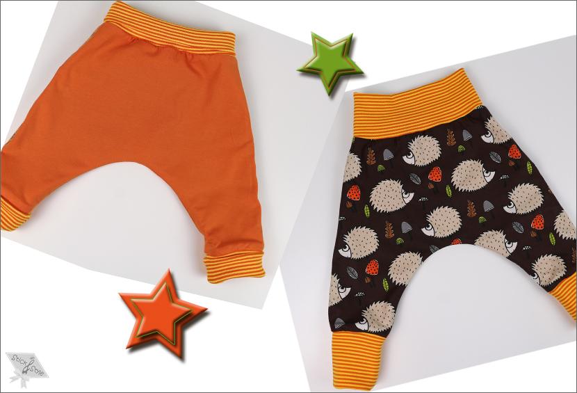 Fertiggenähtes Schnittmuster für eine Kinderpumphose von Stick & Style