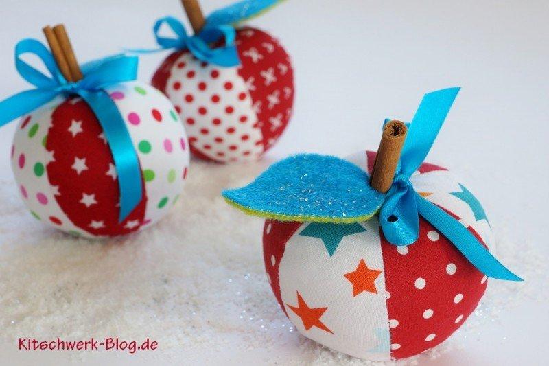 Fertiggenähtes Schnittmuster Weihnachtsäpfel von Kitschwerk Blog
