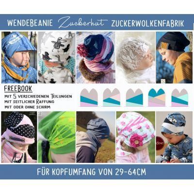 Titelbild gratis Schnittmuster Wendebeanie Zuckerhut von Zuckerwolkenfabrik