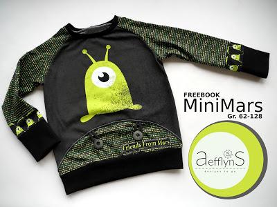 Titelbild kostenloses Schnittmuster Freebook MiniMars in den Größen 62-128 von aefflynS