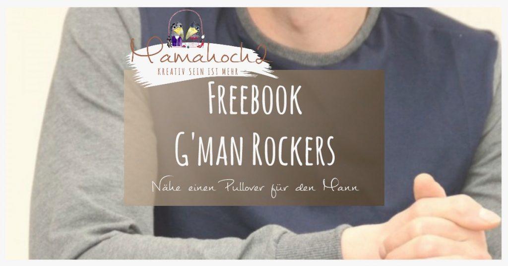 Titelbild für Schnittmuster G'MAN ROCKERS von Mamahoch2 - Kostenloses Schnittmuster Männerpullover