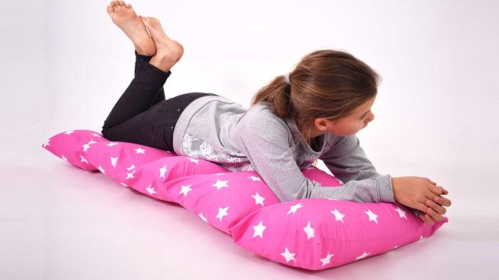 So sieht die Kissenmatte von leni Pepunkt aus: Mit kostenloser Nähanleitung eine Kissenmatte nähen
