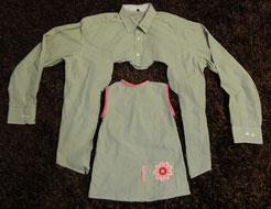 Schaubild für das kostenlose Schnittmuster für ein einfaches Kinderkleid von Frau Käferin näht