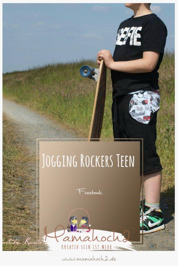Das kostenlose Schnittmuster für eine Jogginghose für Teenager in den Größen 128-152 von Mamahoch2.