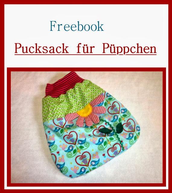Fertiggenähtes Schnittmuster des Pucksacks für Puppen von sui-generis-design