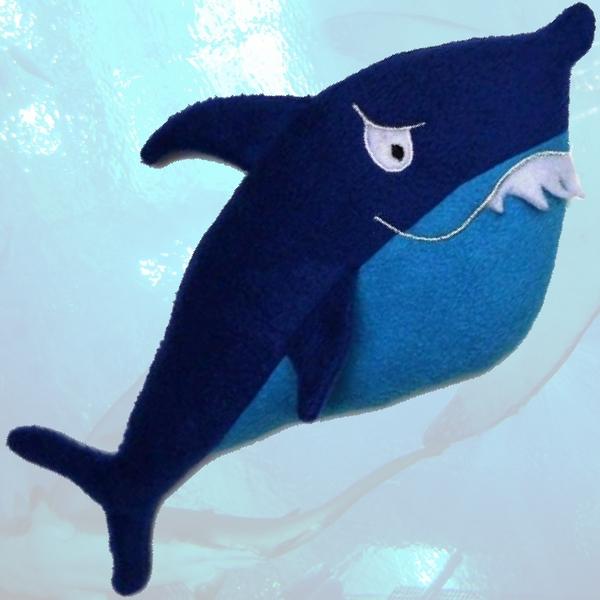 """Titelbild für das Schnittmuster Körnerkissen """"Hai"""" von Sulky"""