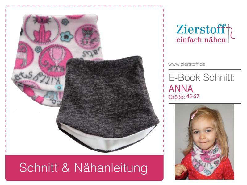 Kostenloses Schnittmuster und Nähanleitung für Hassocke bzw. Halstuch Anna von Zierstoff.
