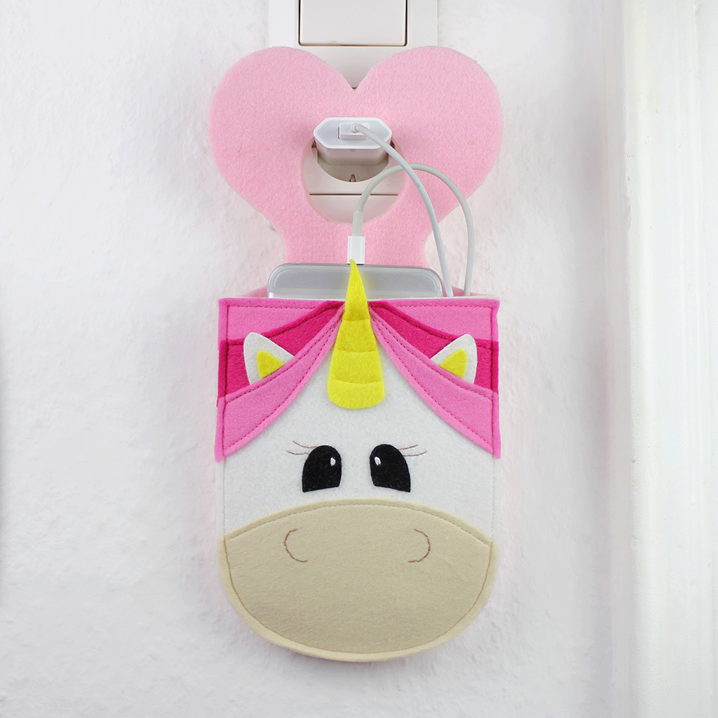Beitragsbild für das Schnittmuster einer Handyladetasche als Einhorn von Kullaloo.