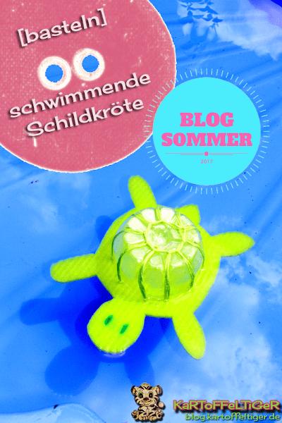 Upcycling: Schildkröte aus Plastikflasche und Spültuch basteln