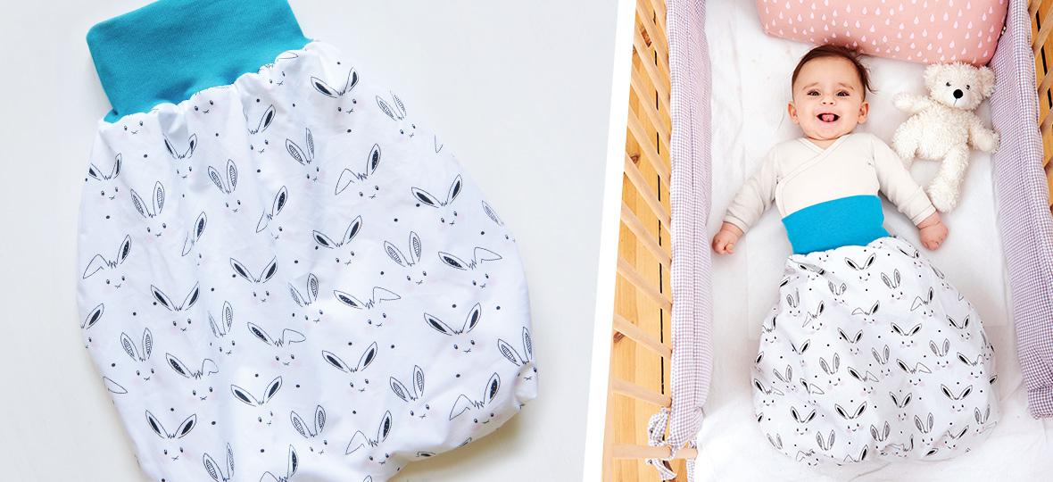Schnittmuster kostenlos: Pucksack für Babys nähen