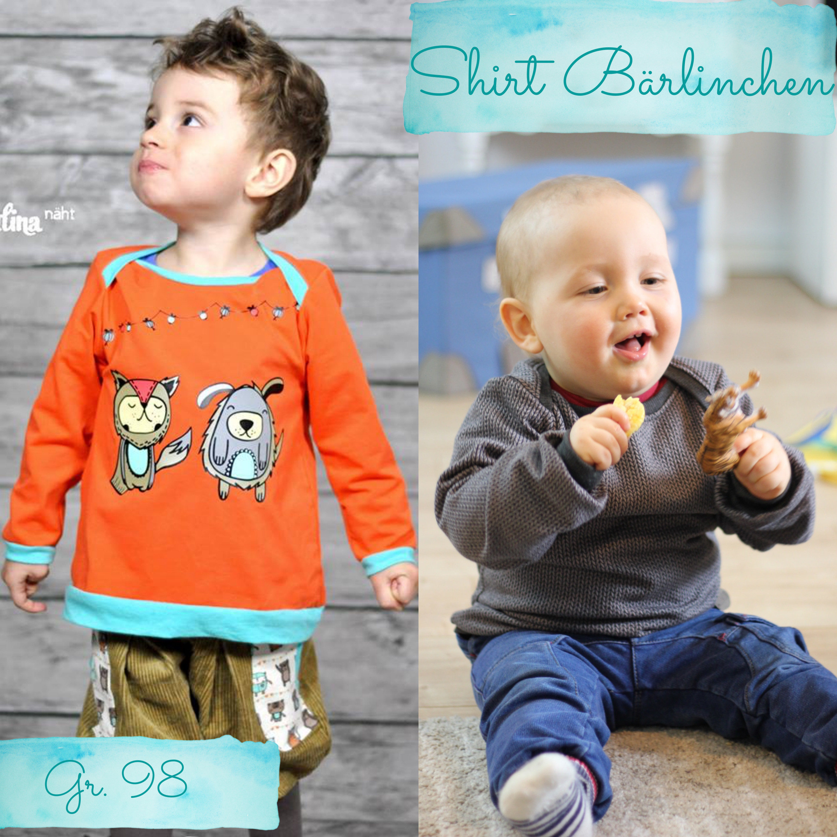 Gratis Schnittmuster Shirt für Babys
