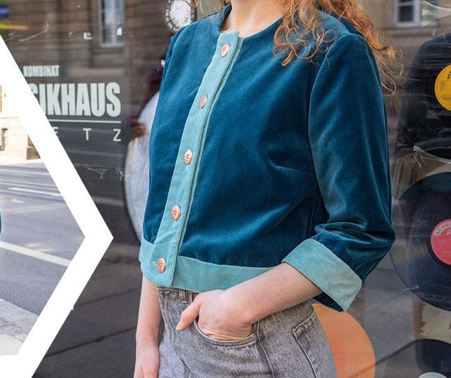 Schnittmuster kurze Jacke für Damen