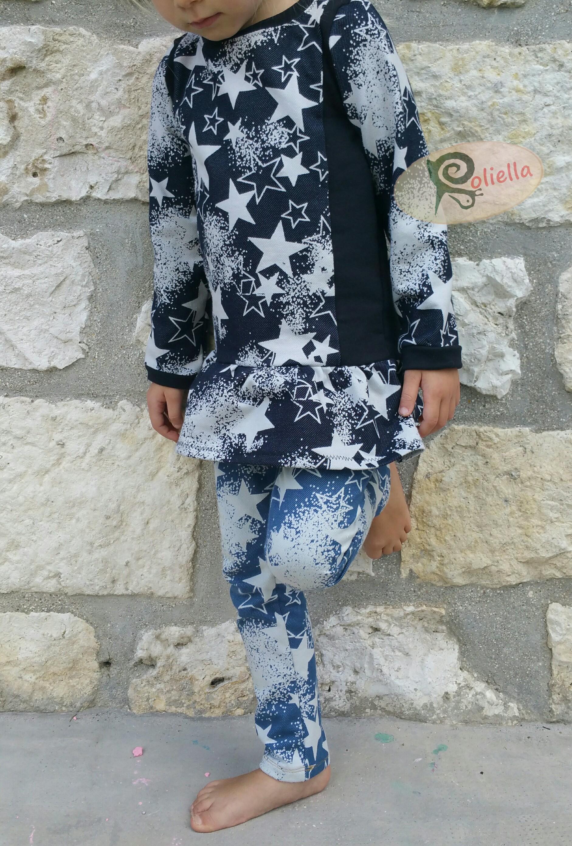 Kostenlose Schnittmuster Shirt und Leggings von Roliella