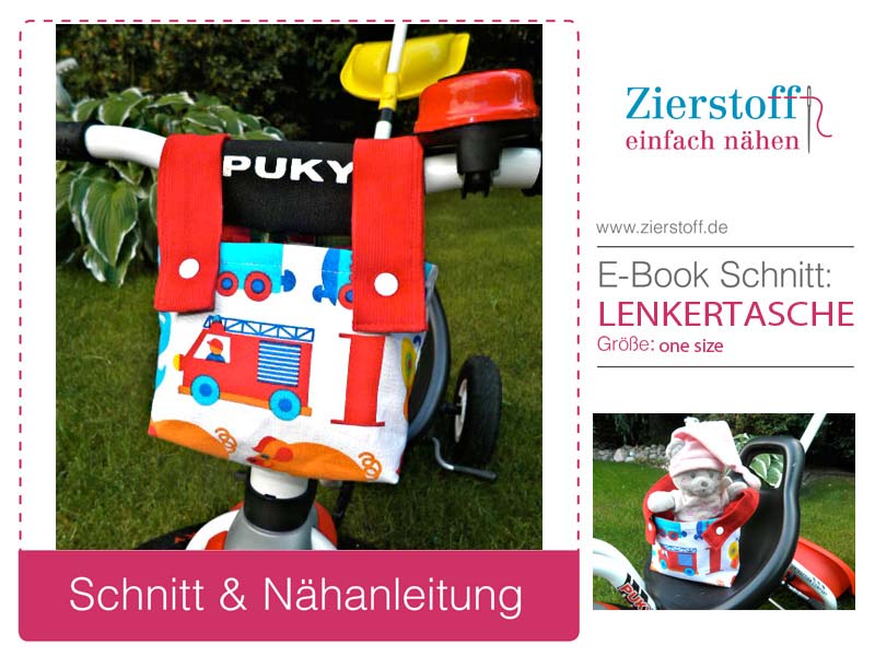 Schnittmuster Lenkertasche für Puky Fahrrad