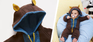 Schnittmuster Fleece Overall für Babys nähen