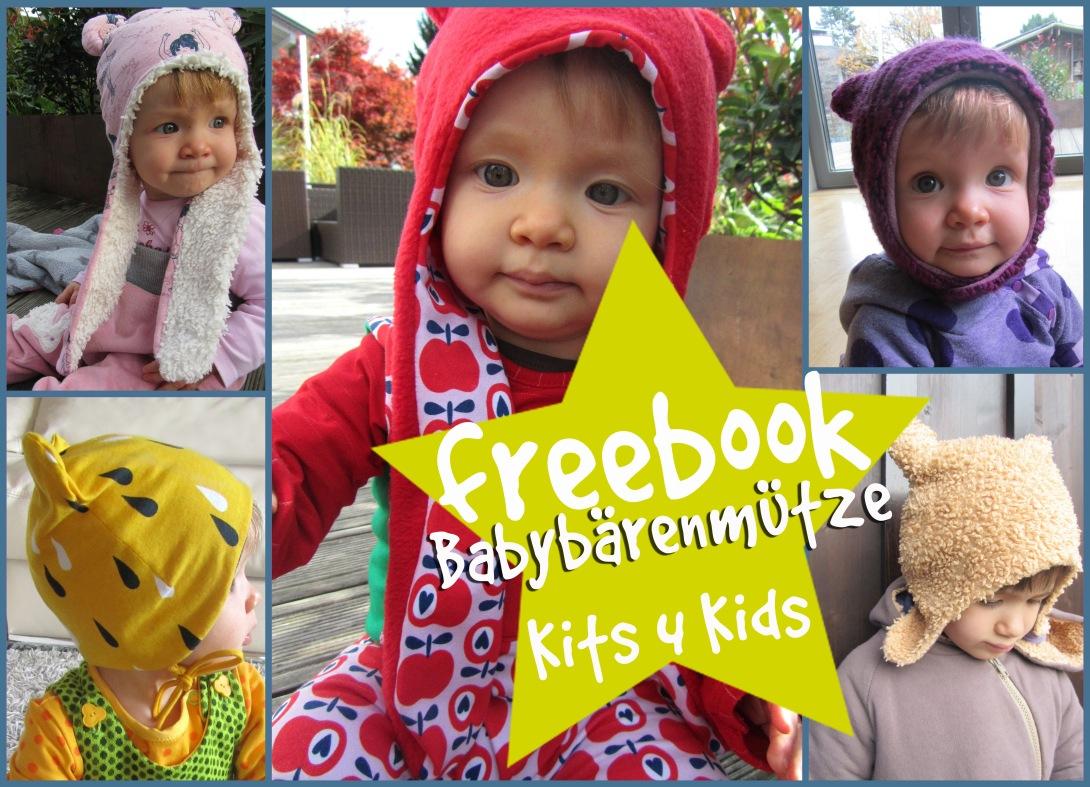 "Schnittmuster Babymütze ""Bär"" von Kits4Kids"