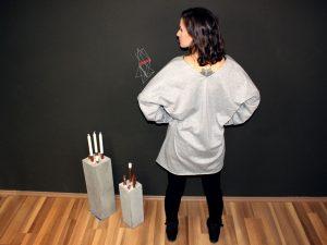 Schittmuster für Oversized Pullover mit Schlitzen.