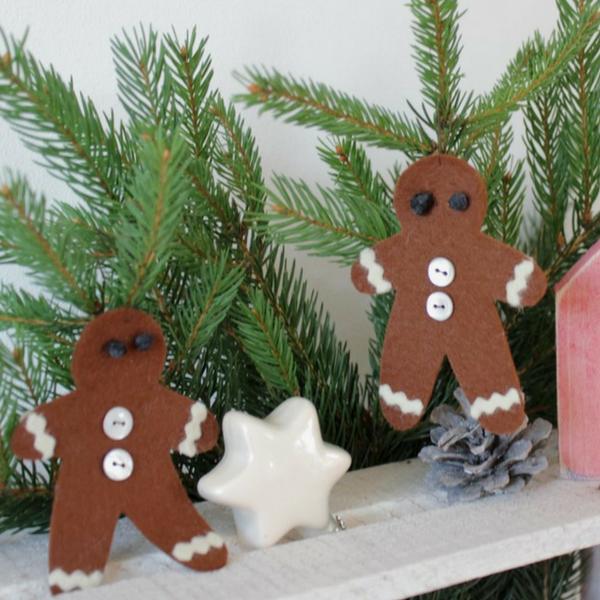 Lebkuchenanhänger als Weihnachtsdekoration nähen