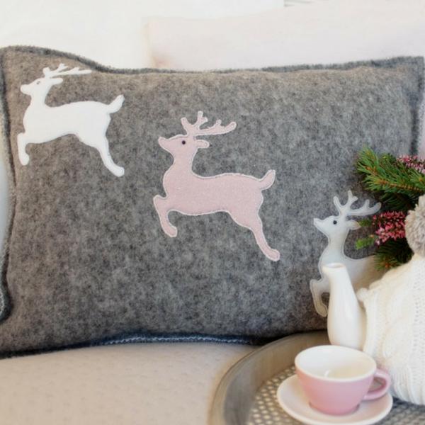 Kissen mit Rentieren für Weihnachten nähen