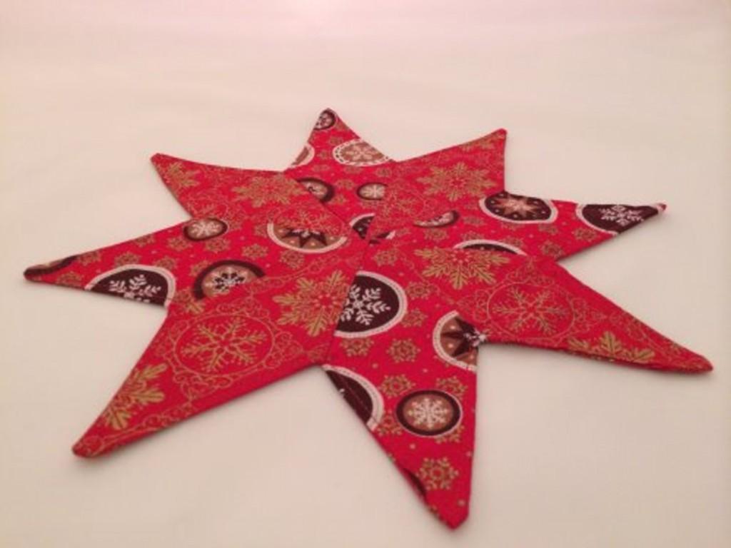 Deckchen Stern mit Nähanleitung von Selbernähen