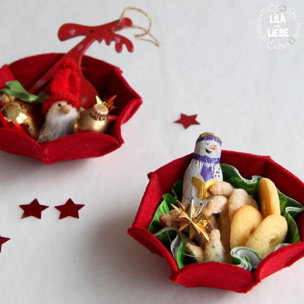 Nähanleitung und kostenloses Schnittmuster von Lila wie Liebe für Filzkörbchen