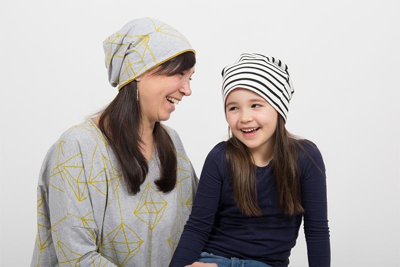 Gratis Schnittmuster Beanie für Kinder und Erwachsene