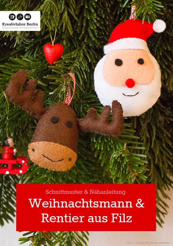 Weihnachtsbaumanhänger nähen mit Nähanleitung von Kreativlabor Berlin