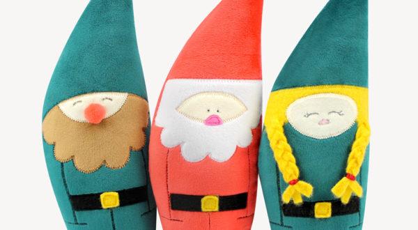 Wichtel und Weihnachtsmann nähen mit Nähanleitung von kullaloo