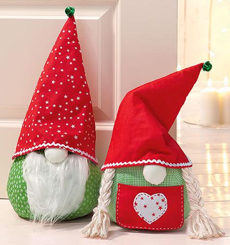 Türstopper nähen für Weihnachten mit kostenlosem Schnittmuster