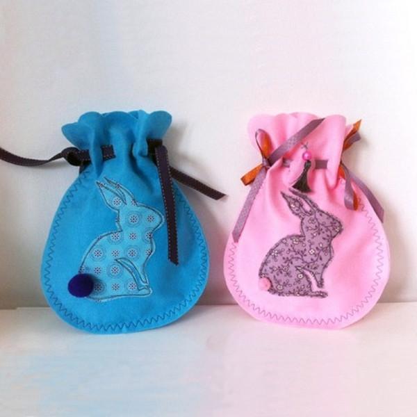 Geschenkbeutel für Ostern nähen mit Nähanleitung und Schnittmuster von Sulky