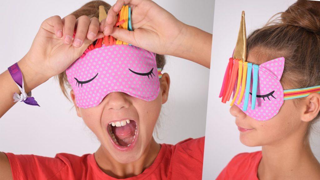 Schlafmaske Einhorn nähen mit gratis Schnittmuster