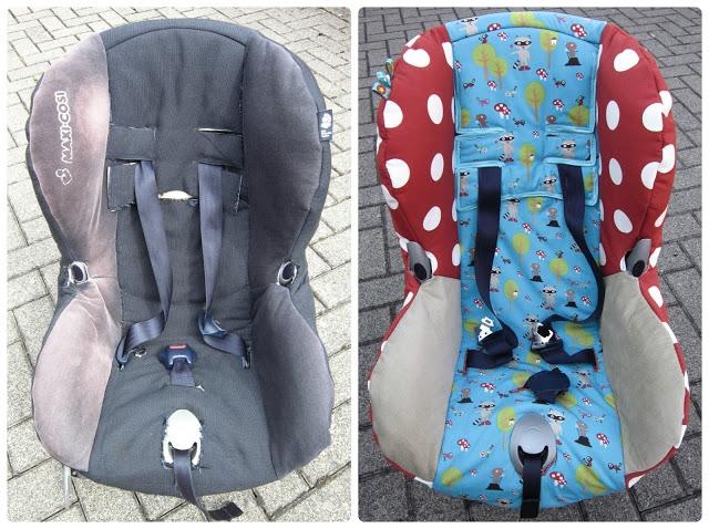 Kindersitzbezug anhand der Maße des eigenen nähen