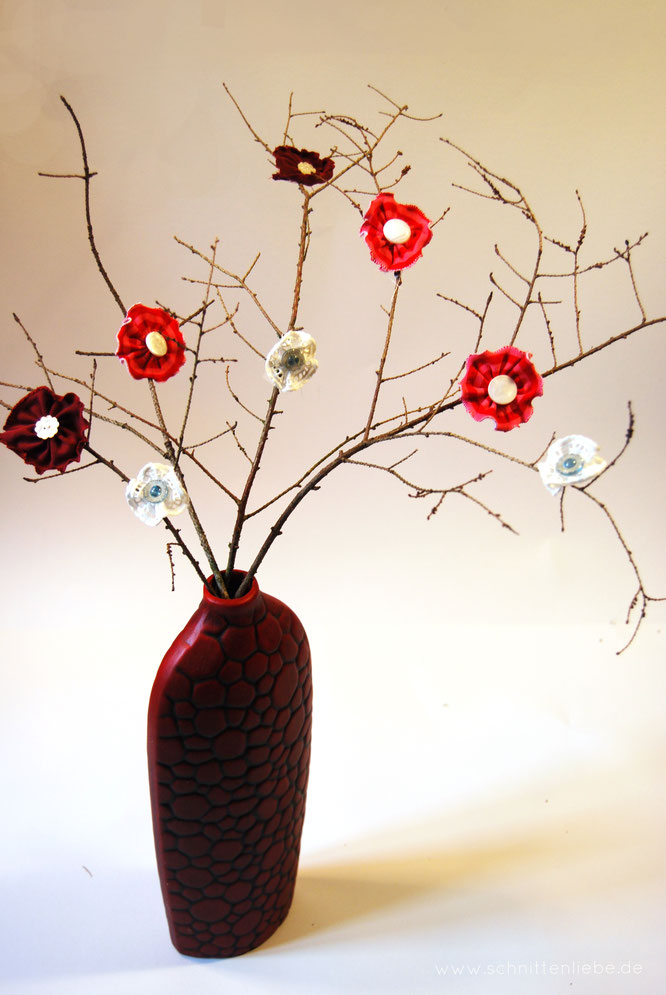 Blumenstrauß als Dekoration nähen