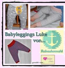 Leggings für Babys nähen mit Nähanleitung und Schnittmuster