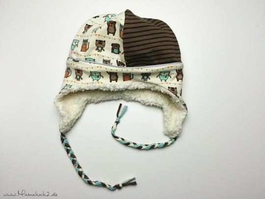 Wintermütze nähen mit Schnittmuster und Nähanleitung von Mamahoch2