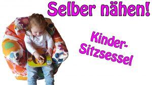 Kindersitzsessel nähen mit Nähanleitung und Schnittmuster von Dots Designs