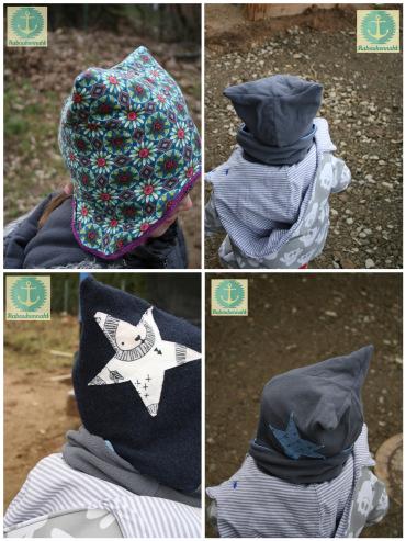 Für Kinder Loop, Schal und Halstuch mit Nähanleitung und Schnittmuster nähen