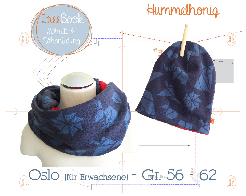 Loop und Schal mit Nähanleitung von Hummelhonig in verschiedenen Größen nähen