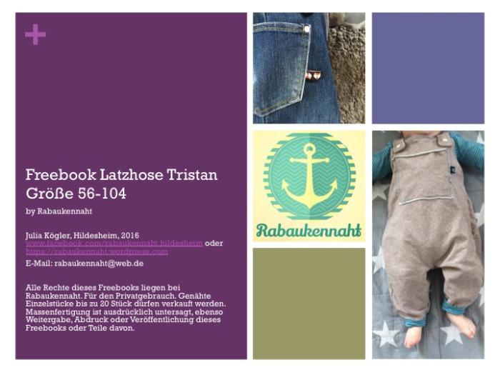 Latzhose Tristan für Babys nähen mit gratis Schnittmuster