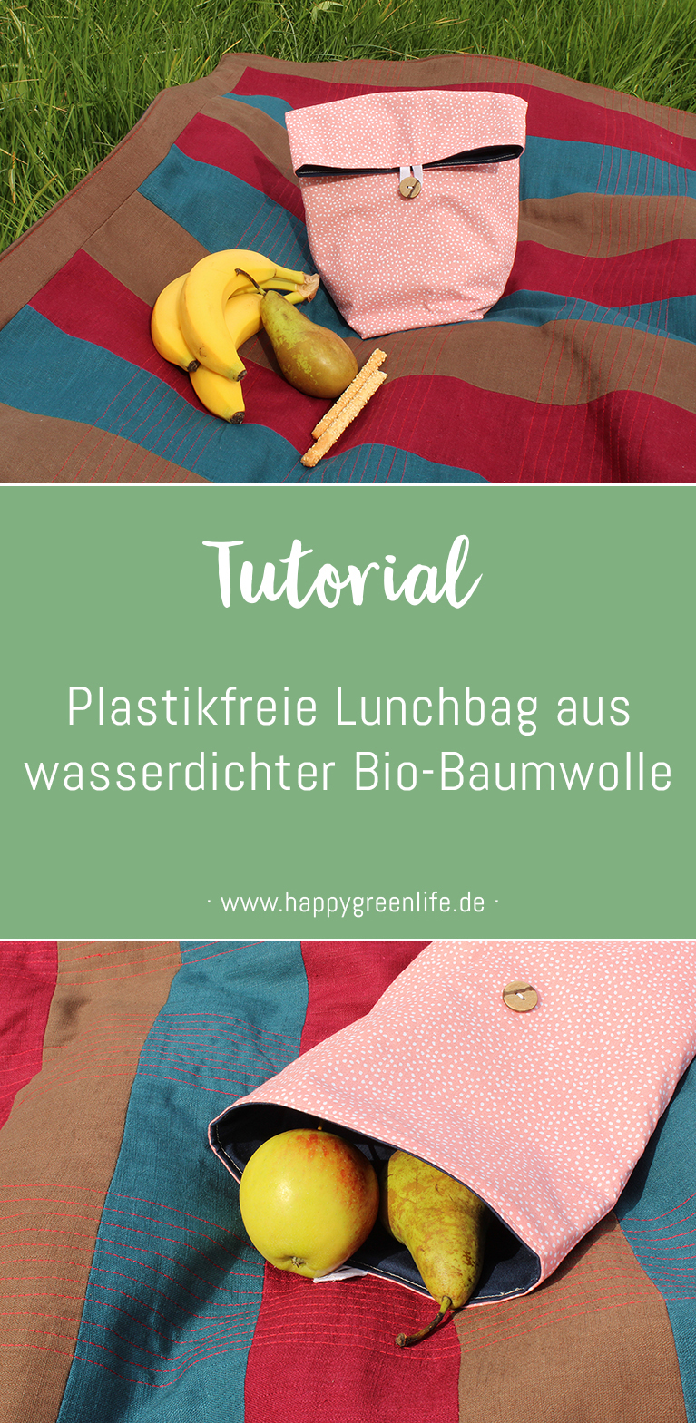 Lunchbag nähen, um Plastikmüll zu vermeiden