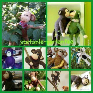 Gratis Schnittmuster Affe Koko von Stefanie Perlenfee