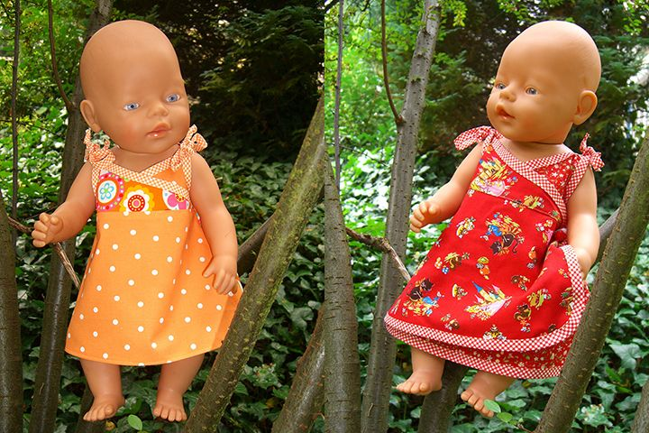 Hängerchen für Puppe nähen mit gratis Schnittmuster