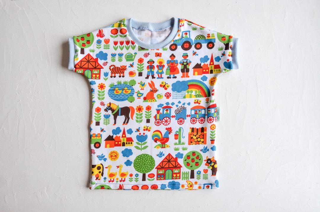 Shirt für Babys nähen mit Nähanleitung