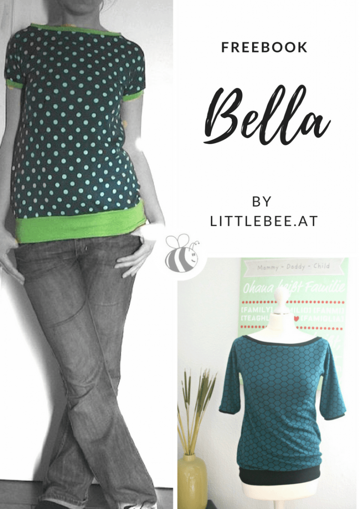 Shirt Bella nähen mit Nähanleitung